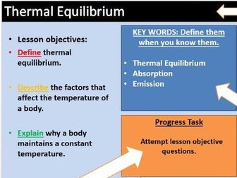 AQA 9-1 Physics Only - Thermal Equilibrium