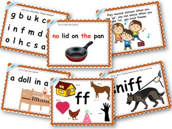 Phonics Powerpoint, Phase 2, Week 6 (ff,ss,ll+no,go)