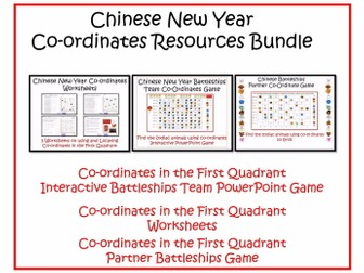 Chinese New Year Maths' Coordinates