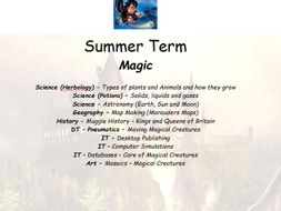 Year 3/4 Summer Term Unit of work based on Magic