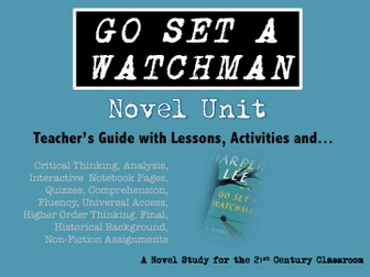 Go Set a Watchman: No Prep Novel Unit