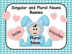 Singular and Plural Nouns - Bunny Easter Theme