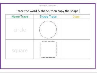 Tracing & Copying 2D Shapes
