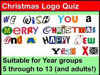 Christmas Logo Quiz - Years 5, 6, 7, 8, 9, 10, 11, 12, 13 - 42 different answers to find