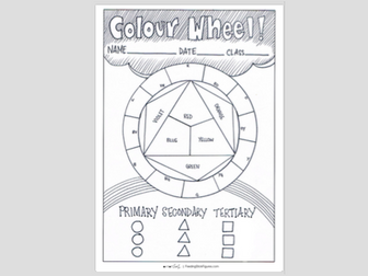 Colour Wheel Learning Sheet
