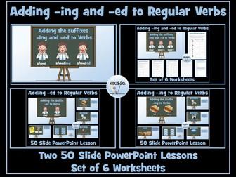 Verbs: Adding -ing and -ed To Regular Verbs