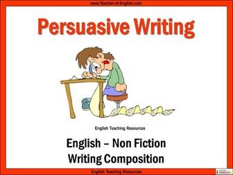 Persuasive Writing - Unit of Work