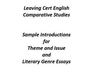 leaving cert english comparative essays Examsupport provides leaving cert students with online video lessons and printable notes in leaving cert ordinary level english - the essays, reports and speeches.