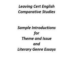 English comparative essay. Start here. 2019-02-04