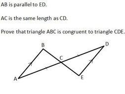 Congruent Triangles GCSE worksheet