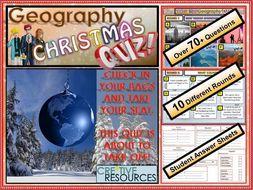 Geography Christmas Quiz - Christmas Quiz 2018