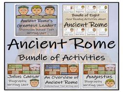 UKS2 History - Ancient Rome Mega Bundle of Activities