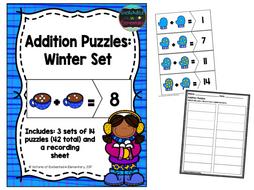 Addition Puzzles: Winter Set