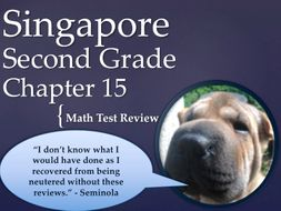 Singapore 2nd Grade Chapter 15 Math Test Review (8 Pages)