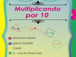 Multiplicando Por 10 - Spanish Multiplication Math Games and Lesson Plans