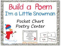 Build a Poem: I'm a Little Snowman - Pocket Chart Center
