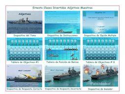 Adjectives Spanish PowerPoint Battleship Game