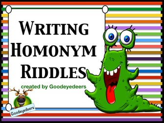 Writing Homonym Riddles