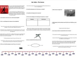 War Walks - The Somme - Worksheet to support the BBC Documentary with Richard Holmes