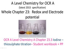 A Level Chemistry for OCR A      Chapter 23.3 Iodine titration
