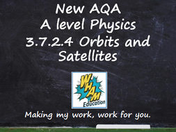 AQA A Level Physics 3.7.2.4 Orbits and Satellites