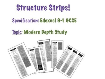 Structure Strips for Edexcel 9-1 GCSE Modern Depth Study