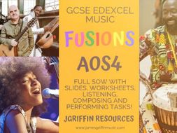 Ofsted OUTSTANDING - Edexcel Music FUSIONS SOW - Full Lessons and Worksheets Pack