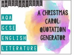 A Christmas Carol: Quotation Generator