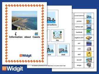 Coasts - Geography Unit with Widgit Symbols