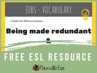 ESL Conversation : Jobs/Work - Vocabulary