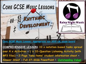 GCSE Music RHYTHM and DEVELOPMENT