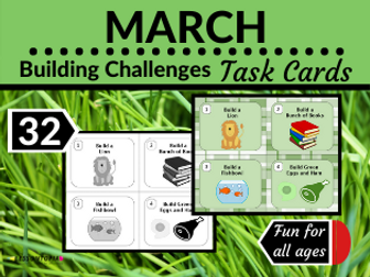 March Themed Building Challenges