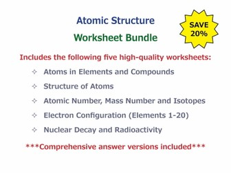 Atomic Structure [Worksheet Bundle]
