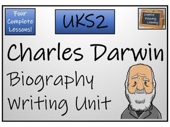 UKS2 Science - Charles Darwin Biography Writing Activity