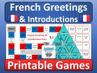 French Greetings / Introductions Games