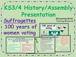 Suffragettes Presentation - 100 years of women voting (UK) (KS3/4) - History