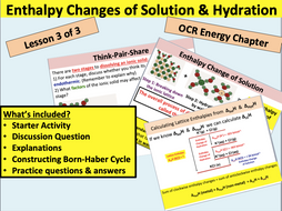Enthalpy Change of Hydration & Solution