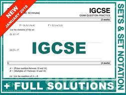 IGCSE 9-1 Exam Question Practice (Sets + Set Notation)
