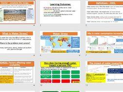 AQA GCSE RESOURCE MANAGEMENT - Global Water Consumption (Complete Lesson)