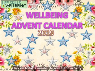 Mindfulness and Wellbeing Advent Calendar 2019