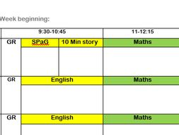 teacher planner sheets inc timetable page notes page by tinyp164