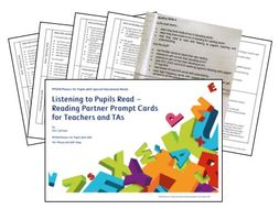 Phonics for SEN: Listening to Pupils Read - Prompt Cards to Support Reading and Comprehension