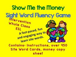 Show Me the Money: Sight Word Game
