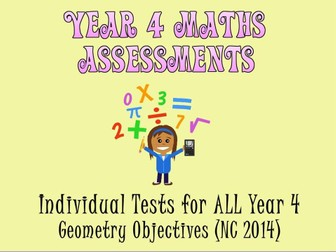 Year 4 Geometry Assessments