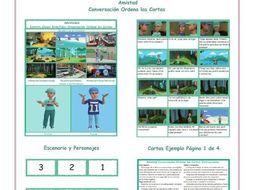 Friendship Spanish Conversation Order Cards