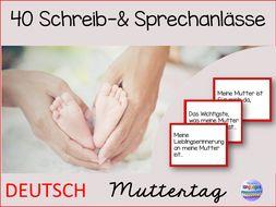German- Schreibanlässe & Sprechanlässe zum Muttertag