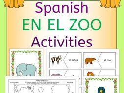 Spanish Zoo Animals - En El Zoo - Activities Pack