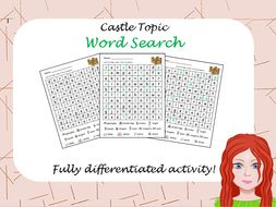 Castle Wordsearch - Differentiated