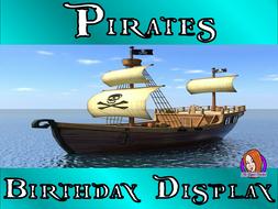 Pirate Class Birthday Display
