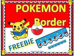 Pokemon POKÉMON Border Clipart FREEBIE Clips Bilingual Stars Mrs. Partida